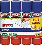 Tesa 57088-00200-00 - Lote de pegamentos de barra (3 unidades + 1 gratis, 20 g), color blanco