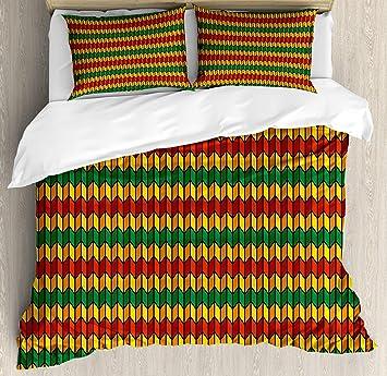 Amazoncom Buling Rasta 4pc Bedding Set Twin Size Geometrical Zig - Geometrical-shapes-on-bedding