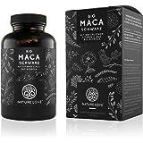Bio Maca Kapseln - 3000mg Bio Maca schwarz je Tagesdosis. 180 Kapseln. Mit natürlichem Vitamin C. Ohne Zusätze wie Magnesiumstearat. Zertifiziert Bio, hochdosiert, vegan, hergestellt in Deutschland
