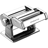 Ovente Vintage Stainless Steel Pasta Maker, 180mm, Polished Chrome (PA518S)