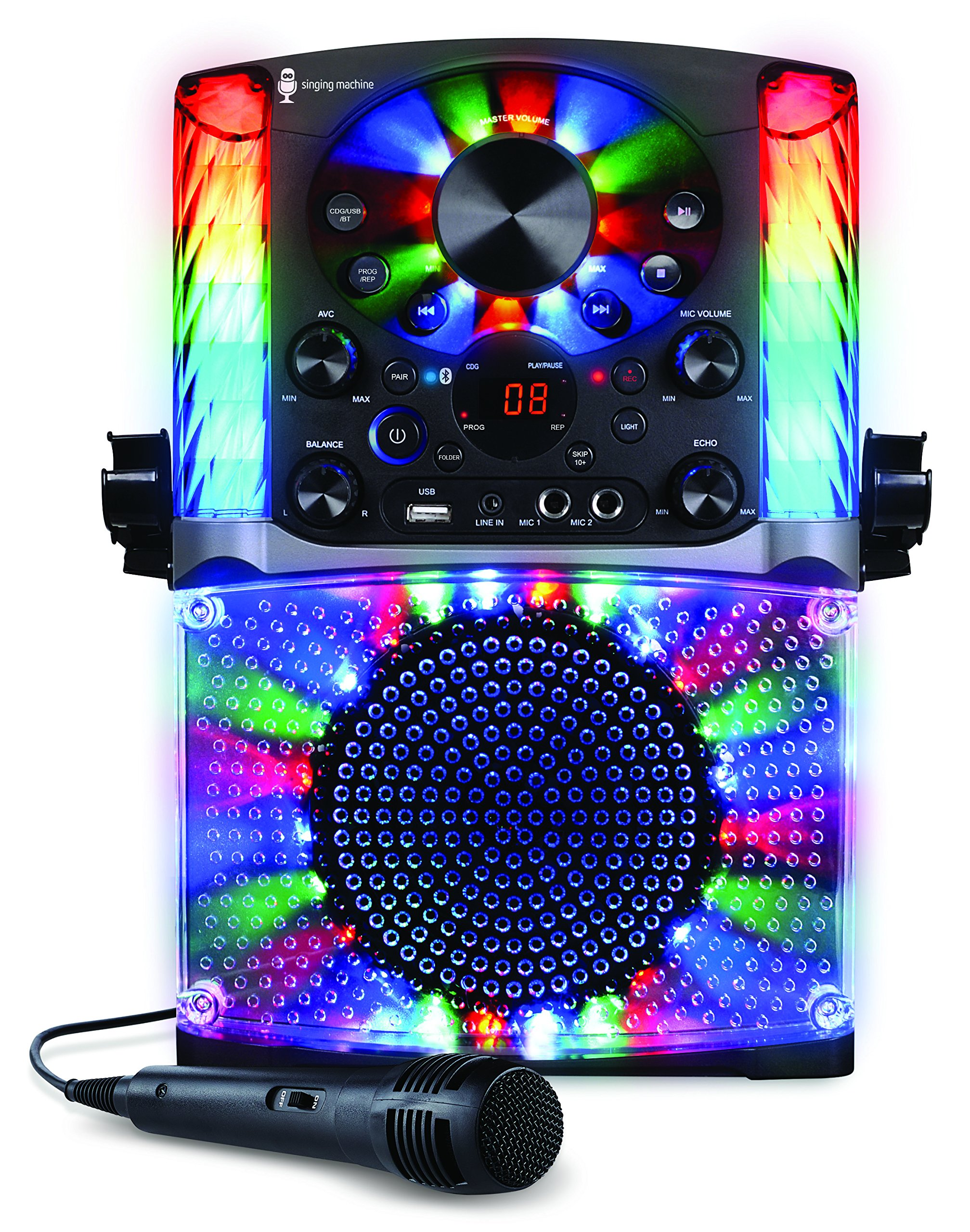 Singing Machine SML625BTBK Bluetooth CD+G Karaoke System Black by Singing Machine (Image #2)