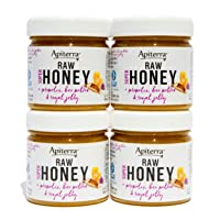 Apiterra - Pure Raw Honey Infused with Propolis, Bee Pollen and Royal Jelly - Natural Immune Support and Energy Boost (total 32 ounce)