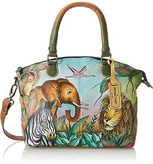 Anuschka Hand-Painted Leather Medium Convertible Satchel   Top Handle  Shoulder Bag Purse d58d85fa86