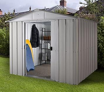 Yard Master caseta de Sajonia 1010 de metal caseta de jardín cobertizo: Amazon.es: Jardín
