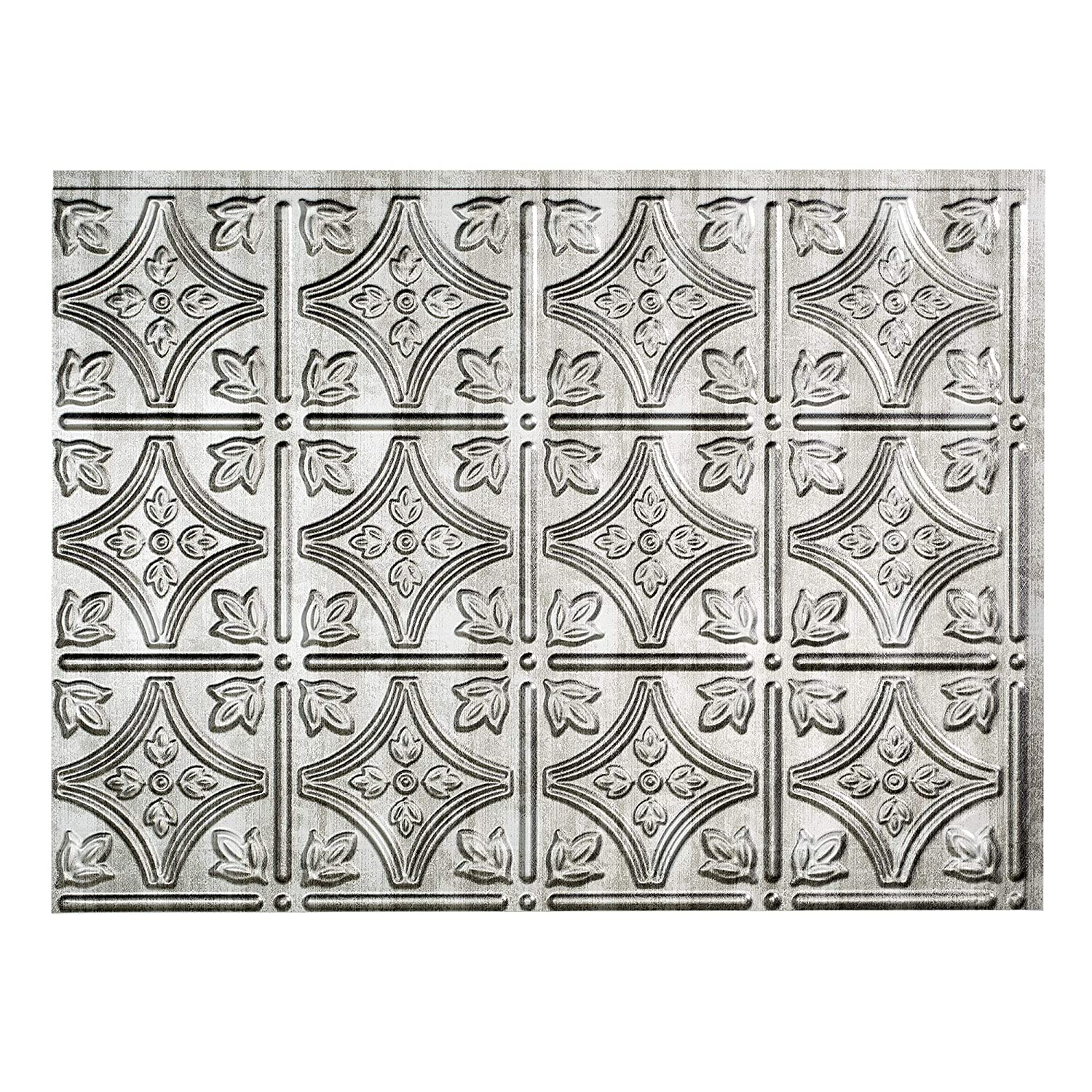 Fasade Easy Installation Traditional 1 Polished Copper Backsplash Panel for Kitchen and Bathrooms 18 x 24 Panel