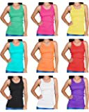 Emprella Tank Tops for Women, Ribbed Racerback Tank Top Assorted Colors - 10 Pack …