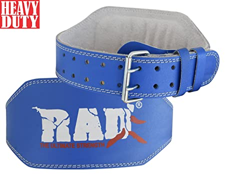RAD Leather Belt 6 Gym Power Heavy Duty Weight Lifting Bodybuilding New