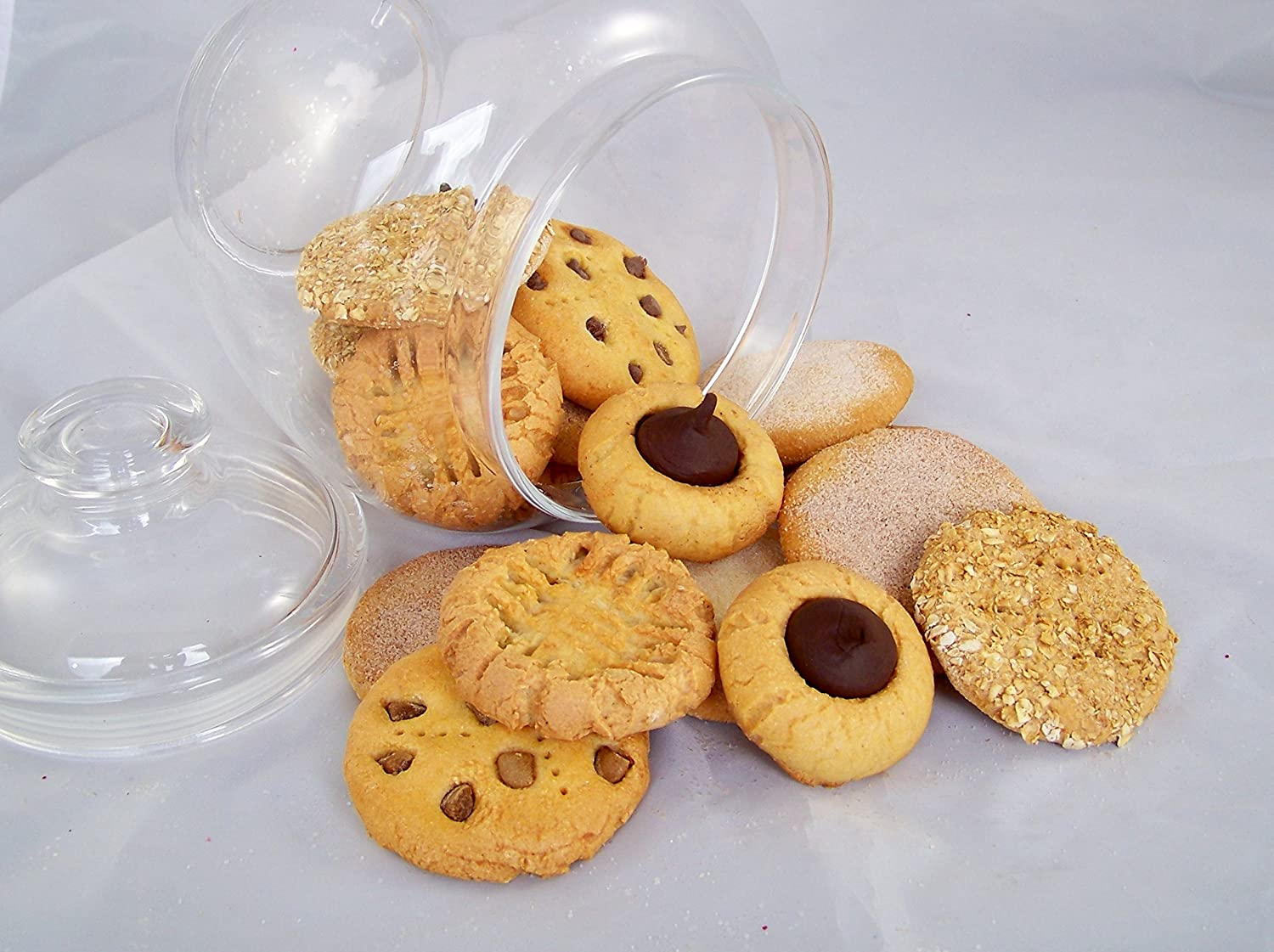 Food Decor Assortment of 12 Artificial Cookies Faux Bakery Replica Biscuits