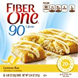 Fiber One 90 Calorie Soft-Baked Bars, Lemon Bar, 6 Fiber Bars, 5.34 oz (Pack of 6)