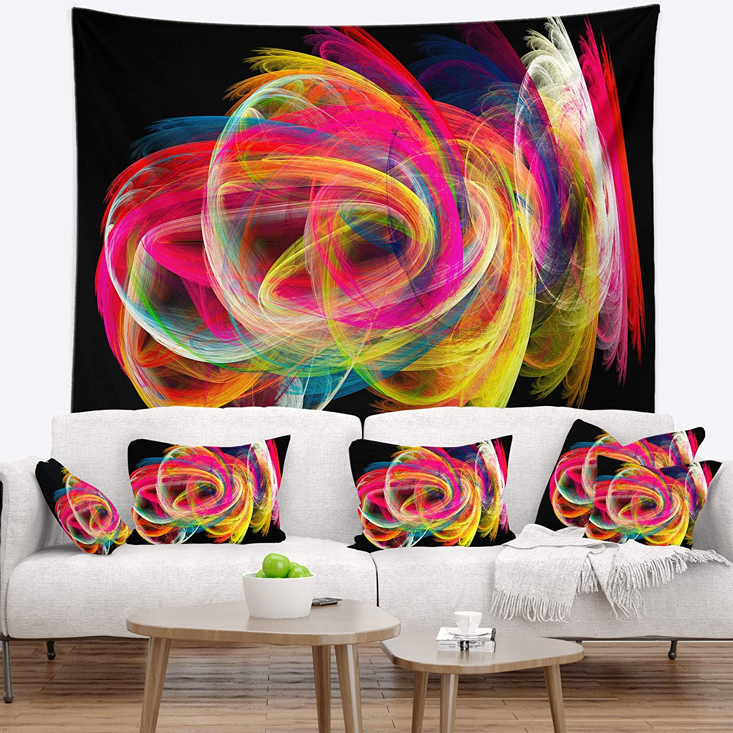 26 x 26 Square Floor Pillow Kess InHouse Sylvia Coomes Balloons in The Sky Photography Kids