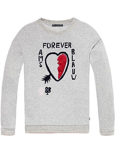 Scotch & Soda Best Friends Sweater, Sudadera para Niñas: Amazon.es: Ropa y accesorios