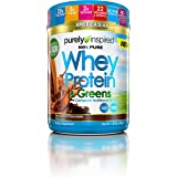 Purely Inspired 100% Pure Whey & Greens, Pure Whey Protein Powder, Decadent Chocolate, 1.5 Pounds