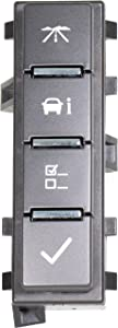 APDTY 141300 Dash Mounted DIC Driver Information Center Display Switch Fits Select Chevy Express GMC Savana Van Avalanche Silverado Sierra Suburban Tahoe Yukon Hummer H2 (Replaces 15947841, 15167184)