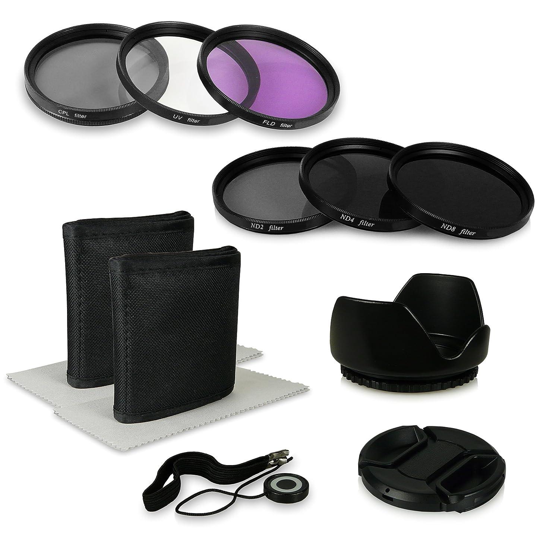 380 290 Sony Alpha 100 SLT-55V 550D 350 330 200 55mm 8in1 Accessori Bundle Kit per fotocamere Canon EOS 1100D SLT-37 390 SLT-57 SLT-35 Alpha 7 Sony Alpha SLT-33 230
