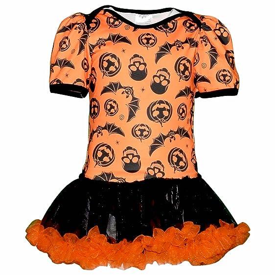 unique baby girls pumpkins bats skulls halloween romper with tutu 3mxs