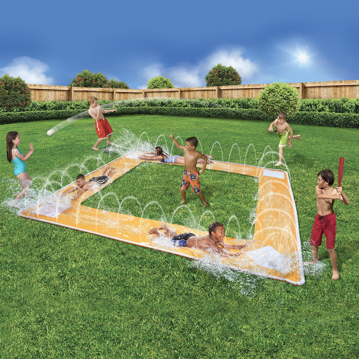 BANZAI Spring and Summer Toys Grand Slam Baseball Water Slide by BANZAI