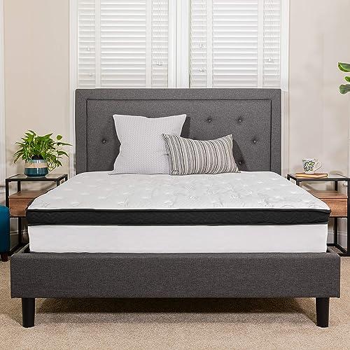 Flash Furniture Capri Comfortable Sleep 12 Inch CertiPUR-US Certified Memory Foam Pocket Spring Mattre