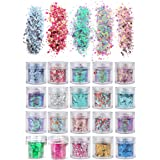 20 Colors/Boxes Holographic Cosmetic Festival Chunky Glitters Sequins, Nail Sequins Iridescent Flakes, Cosmetic Paillette Ult