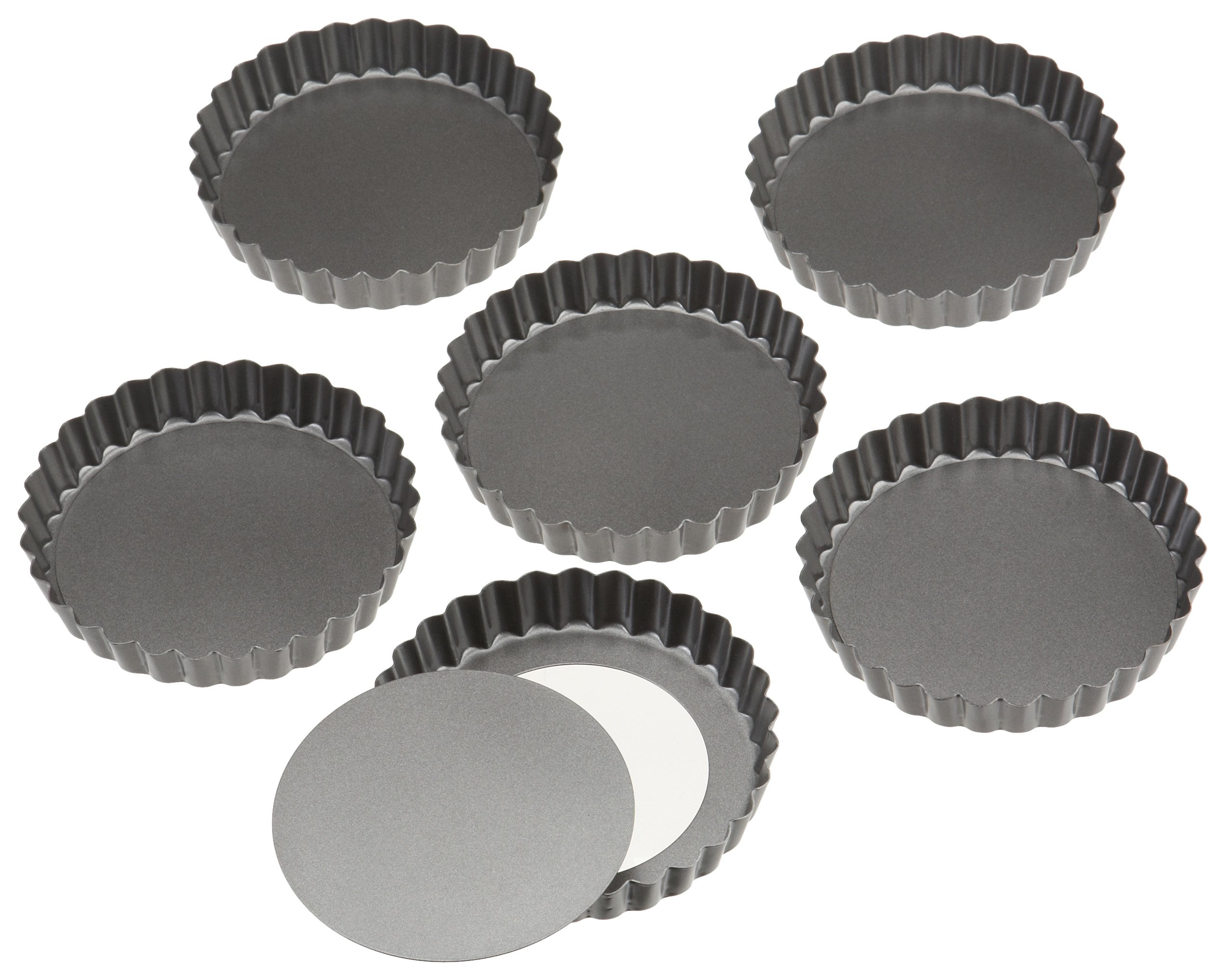 Wilton Perfect Results 4.75 Inch Round Tart/Quiche Pan, Set of 6 by Wilton (Image #2)