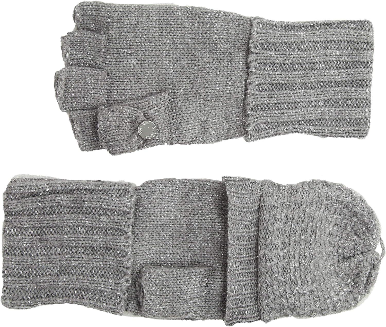 Calvin Klein Women's Lurex Textured Flip Top Glove