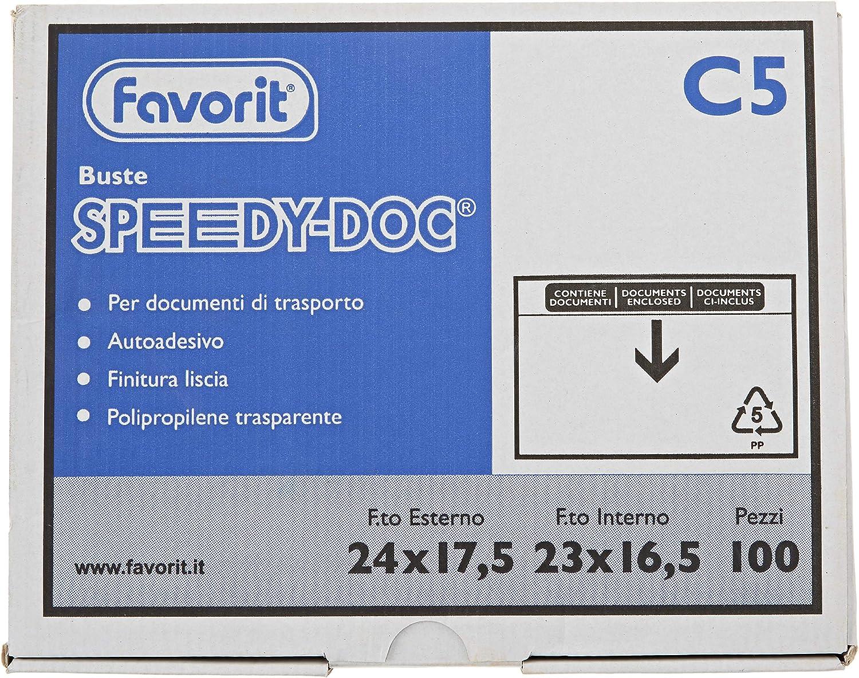 Buste stampate con chiusura adesiva Purely Packaging 235 x 175 mm scritta in ingleseDocuments Enclosed formato A5 confezione da 1.000 pezzi