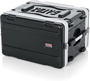 "Gator Cases Lightweight Molded 6U Rack Case with Heavy Duty Latches; Shallow 14.25"" depth, 6U (GR-6S)"