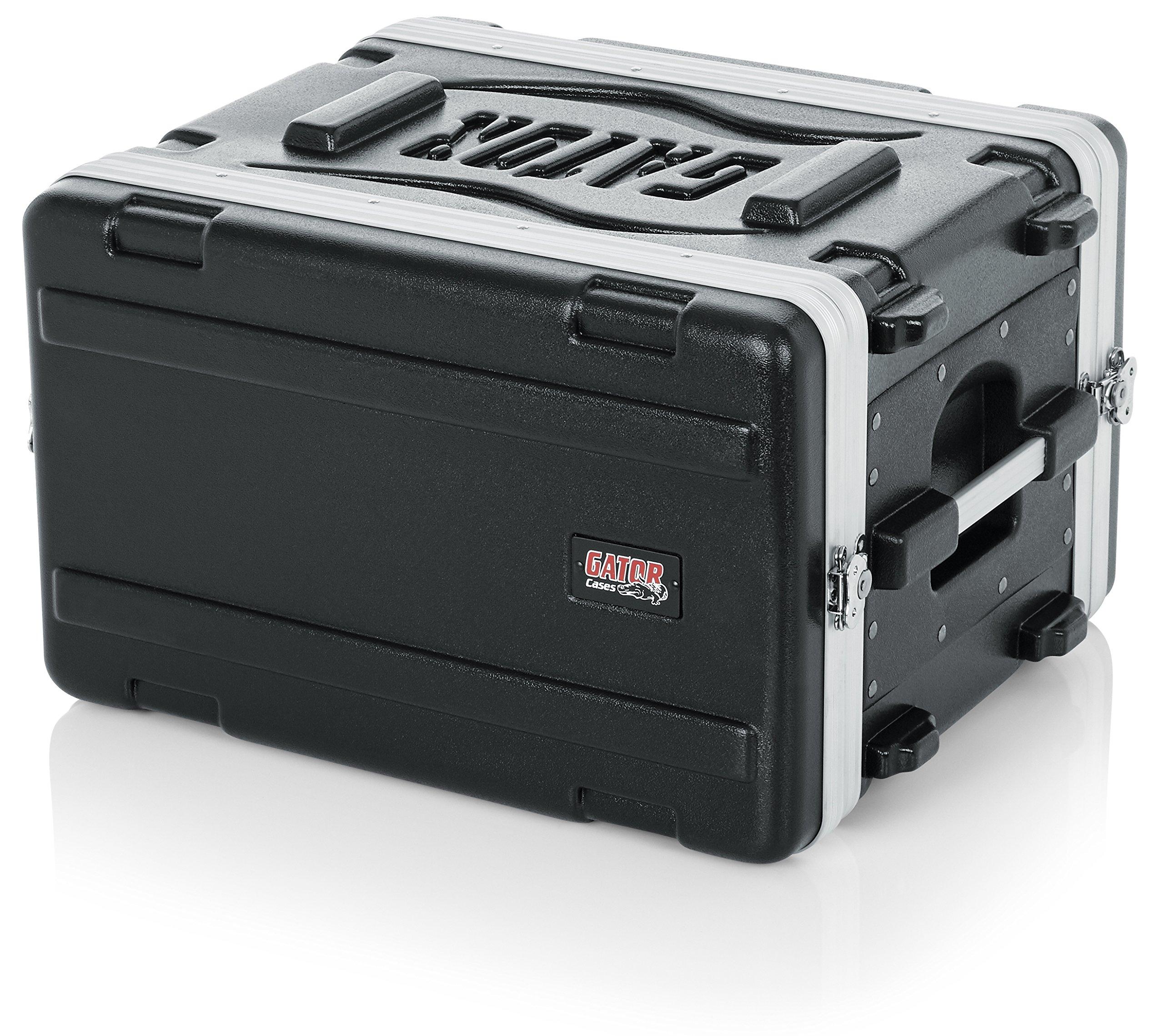 Gator Cases Lightweight Molded 6U Rack Case with Heavy Duty Latches; Shallow 14.25'' depth, 6U (GR-6S)