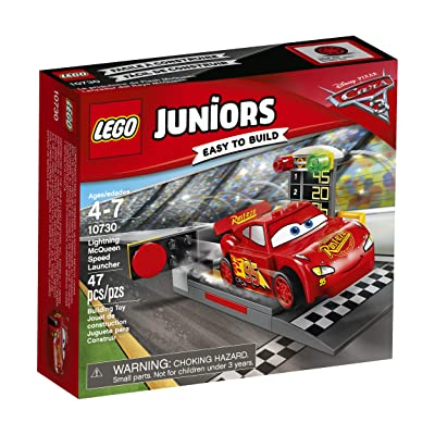 LEGO Juniors Lightning McQueen Speed Launcher 10730 Building Kit: Toys & Games