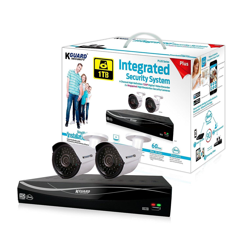 超ポイントアップ祭 KGUARD Security EL431-2WA713A-1TB Easylink (White) Plus Plus 1MP Cameras DIY Home System/Office Surveillance System (White) [並行輸入品] B01M17XVMM, ネットショップラブリカ:2a47855d --- a0267596.xsph.ru