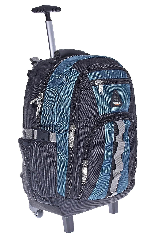 Grau Trolley//Business Trolley Laptop Tasche Schulranzen Ranzen Schulrucksack Rucksack Schultasche Sporttasche