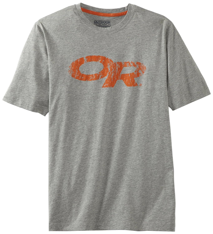 Outdoor Research Men's Bigwall T-Shirt, Silver Heather/Ember, Medium