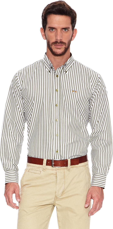 Spagnolo Camisa Hombre Verde/Blanco L: Amazon.es: Ropa y accesorios
