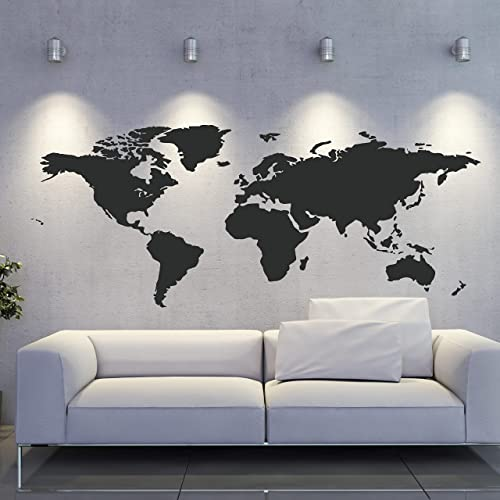 Amazon world map wall decal world wall sticker map wall vinyl world map wall decal world wall sticker map wall vinyl globe decal geography decor ae585 gumiabroncs Images