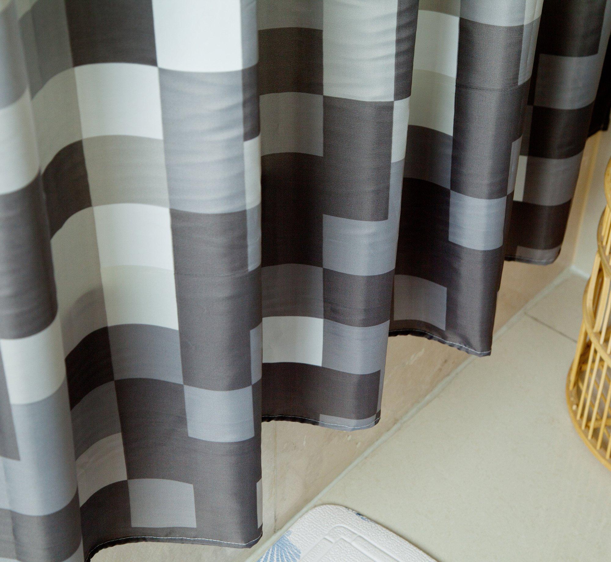 Sfoothome Polyester Fabric Shower Curtain Waterproof Bathroom Shower Curtains - 100% Polyester 100% durable polyester shower curtain has weights at the bottom of it - shower-curtains, bathroom-linens, bathroom - 91av32vi0WL -