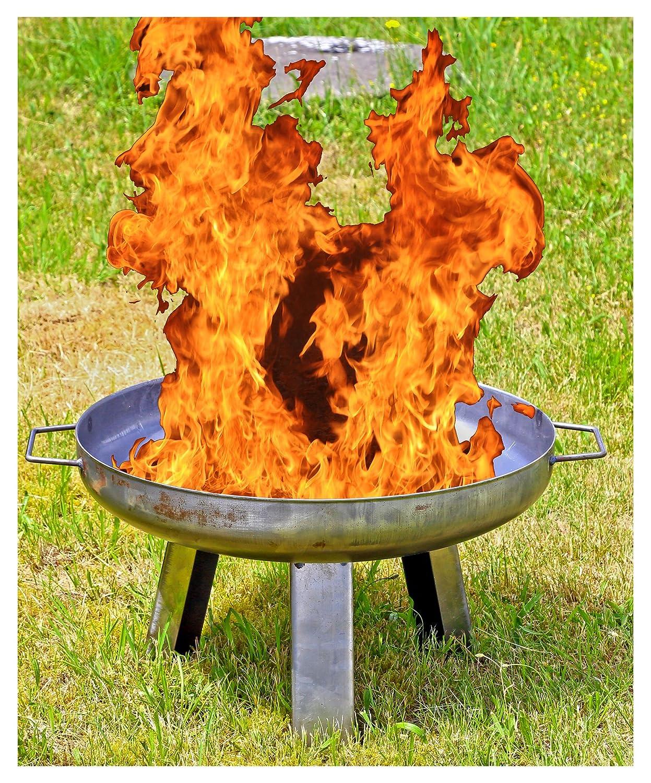 Unibest Feuerkorb mit Grillrost Garten Terrasse Feuerstelle Feuerschale mit Bodenplatte OF1010