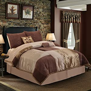 Hudson Street Back To Nature Queen Bed Set, Mocha