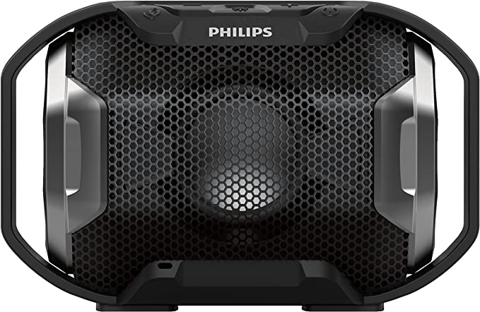 Philips SB300B/00 - Altavoz Bluetooth portátil inalámbrico (Luces LED, a Prueba de Agua IPX7 y Golpes, LED Multicolor), Negro: Amazon.es: Electrónica