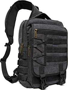 Sling Bags Chest Shoulder Backpacks, 13.3-Inch Laptop Backpack Crossbody Messenger Bag Travel Outdoor Men Women