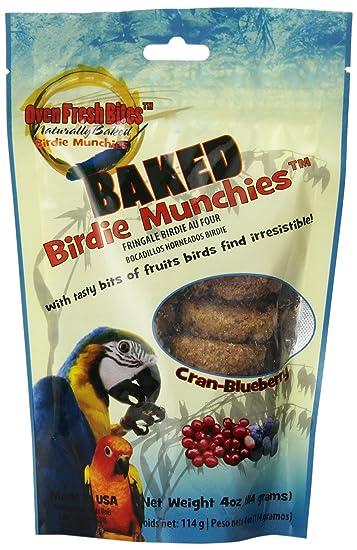 Amazon.com : Oven Fresh Bites Birdie Munchies Pet Treat, Cran-Blueberry, 4-Ounce : Pet Snack Treats : Pet Supplies