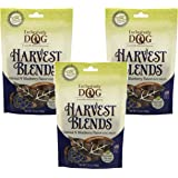(3 Pack) Exclusively Pet Harvest Blends Oatmeal N Blueberry Flavored Treats, 7oz Pouches