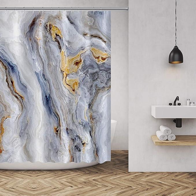 "Gemstone Geology Mineral Colorful Pebbles Shower Curtain Set Bathroom Decor 72/"""