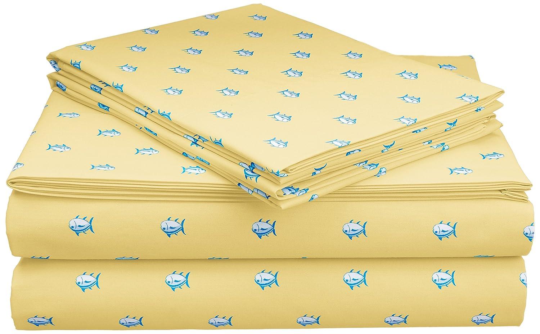 Amazon.com: Southern Tide Printed Cotton Sheet: Home & Kitchen