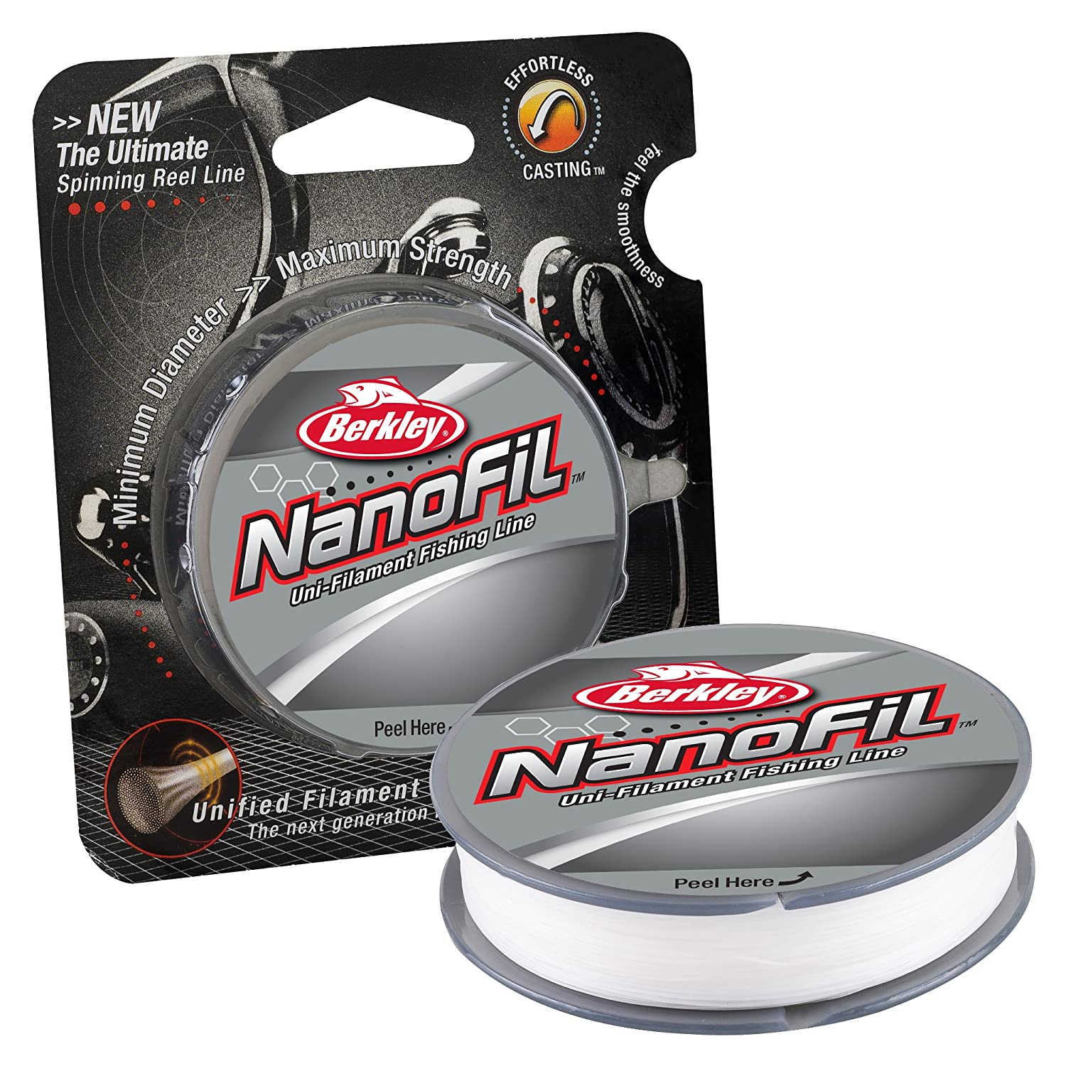 Berkley Nanofil ユニフィラメント 直径0.010インチ 釣り糸 B008UFG1C8 1500-Yard Spool|Clear Mist Clear Mist 1500-Yard Spool