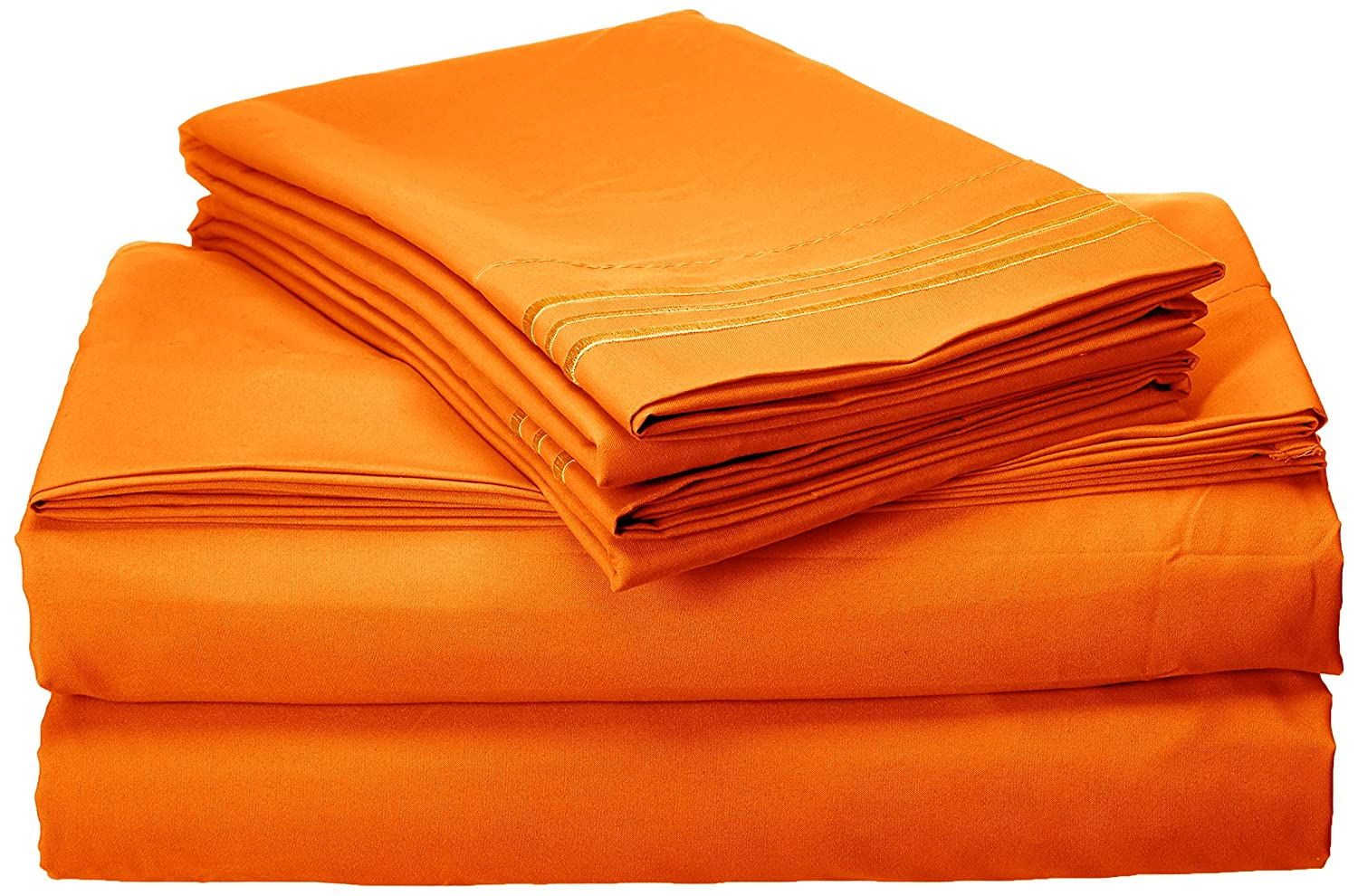 4-Piece Sheet Set, California King, Elite Orange
