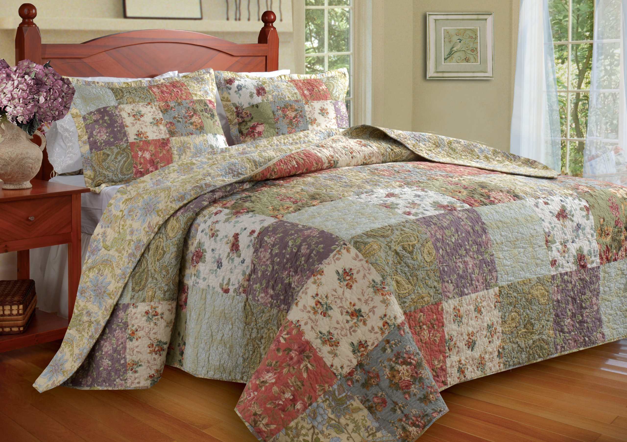 Greenland Home Blooming Prairie Queen 3-Piece Bedspread Set by Greenland Home