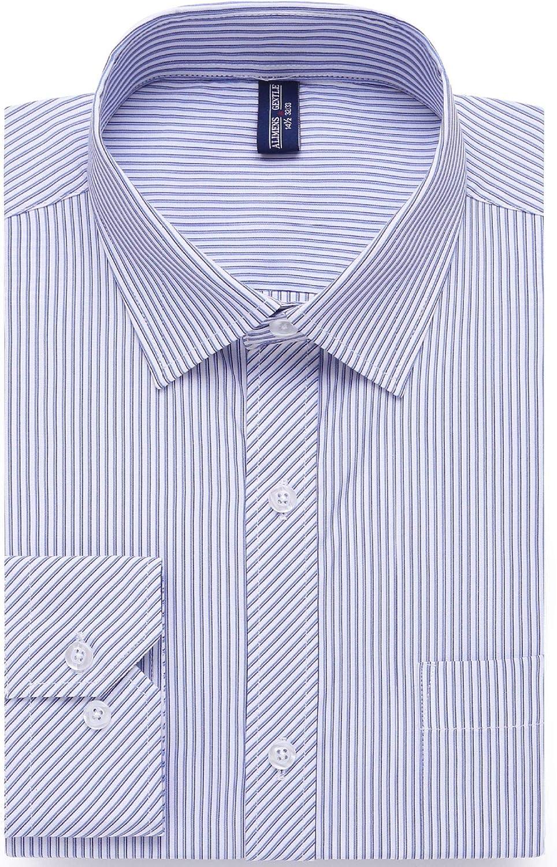 siliteelon Mens Long Sleeve Business Formal Dress Shirt