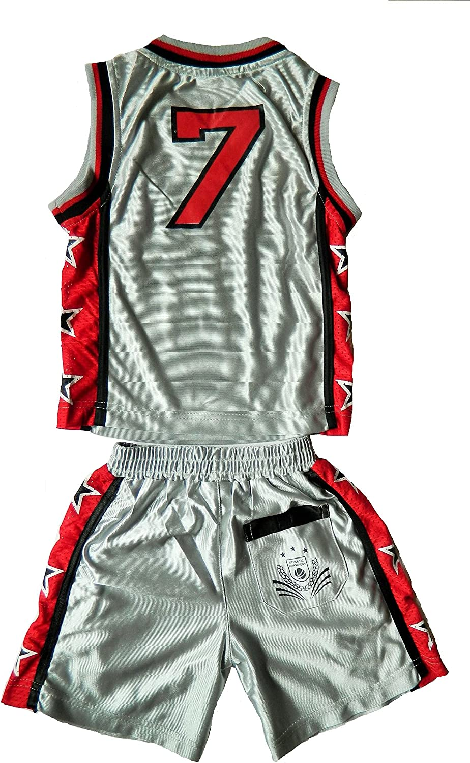 Chicago Santa Fe New York New Jersey Miami Texas Alter 6 Monate bis 12 Jahre Hawaii Olympia Fashion Oasis Kinder Jungen Basketball-Satz Boston