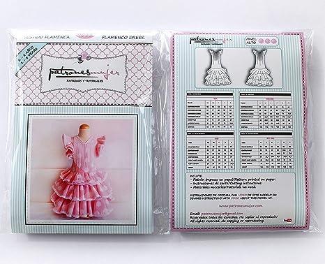 Patrón de ropa vestido niña flamenca, con vídeo para ...