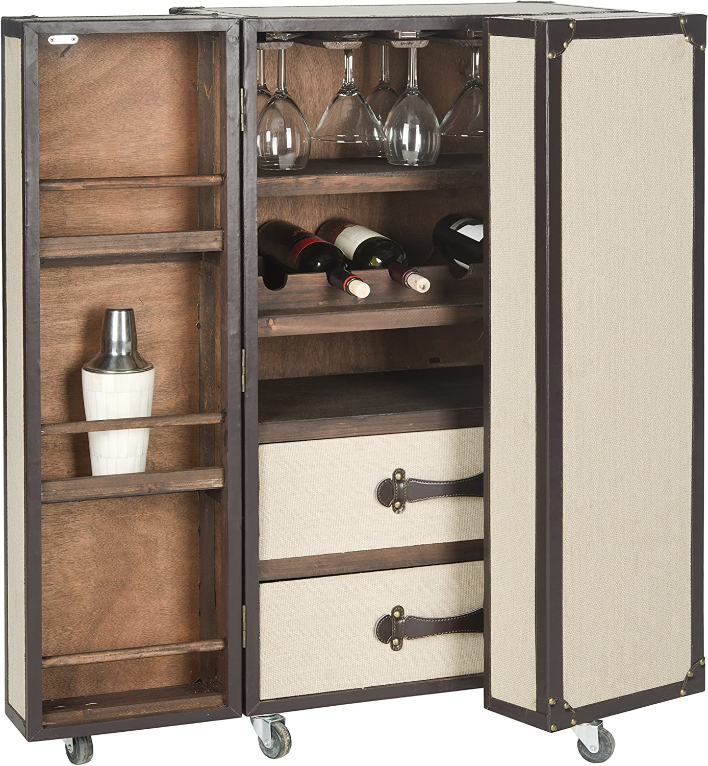 Safavieh Home Collection Beige Bar Cabinet