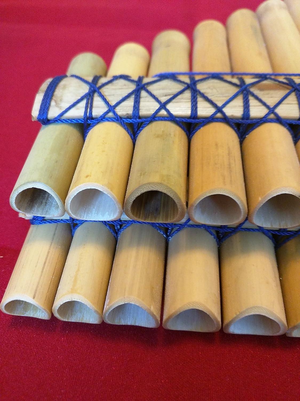 cromatico Zampo/ña bamb/ù flauto di pan 40/tubi smussato